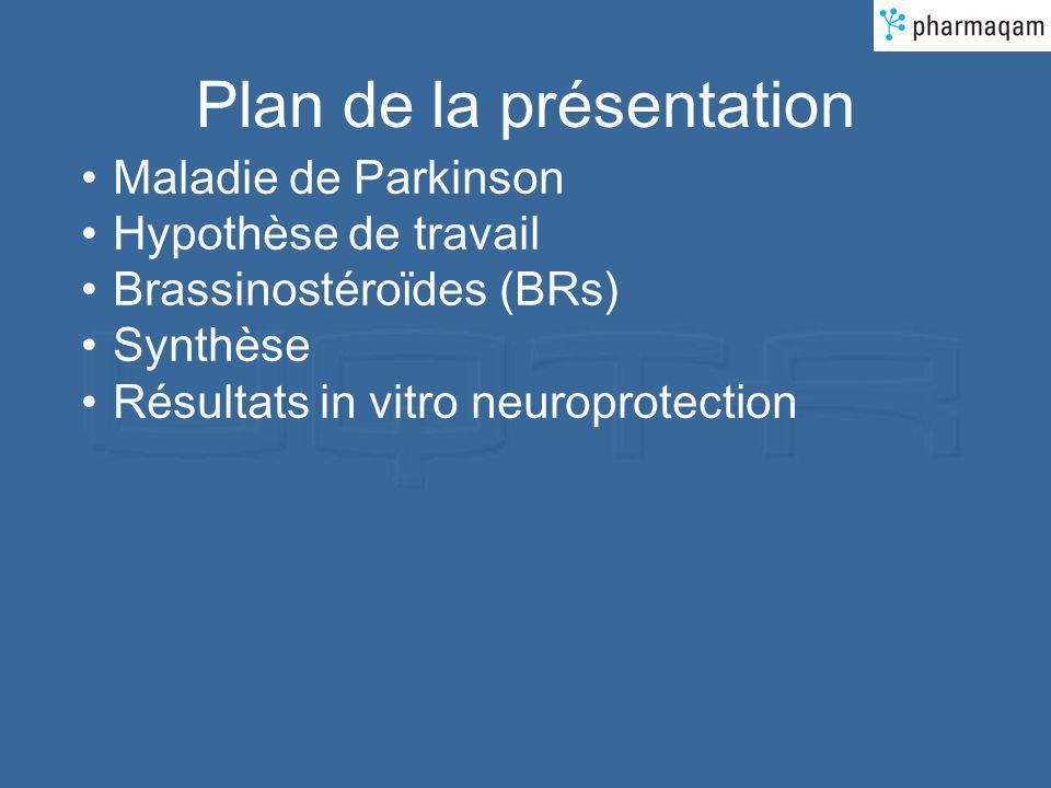 Maladie de Parkinson 25 000 personnes atteintes au Québec (130 000 au Canada) Mort des neurones dopaminergiques (produisant la dopamine, un neurotransmetteur) dans la substantia nigra W.