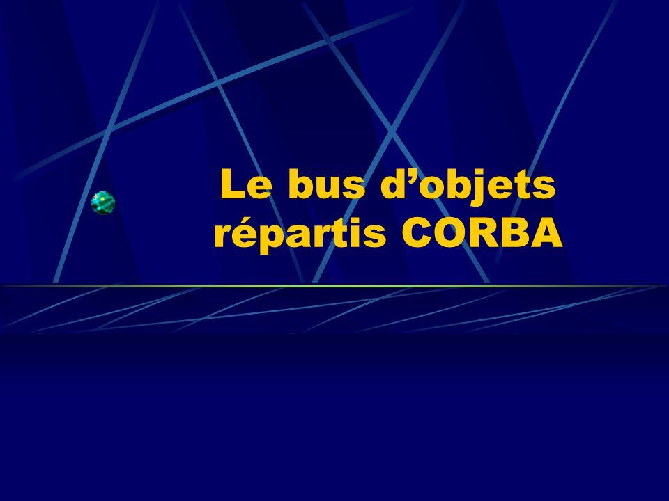 Le bus dobjets répartis CORBA