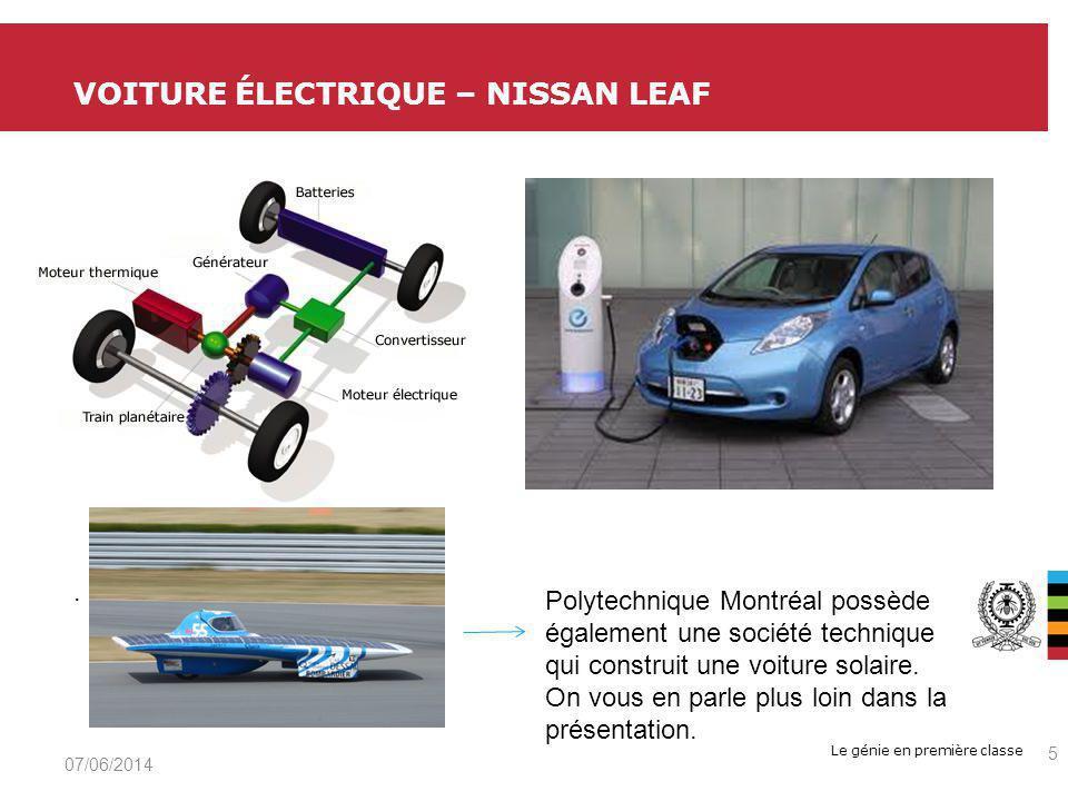 Le génie en première classe VOITURE ÉLECTRIQUE – NISSAN LEAF 07/06/2014 5.