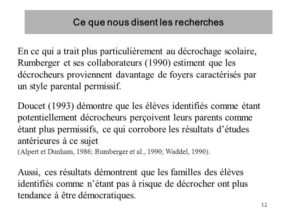 12 En ce qui a trait plus particulièrement au décrochage scolaire, Rumberger et ses collaborateurs (1990) estiment que les décrocheurs proviennent dav
