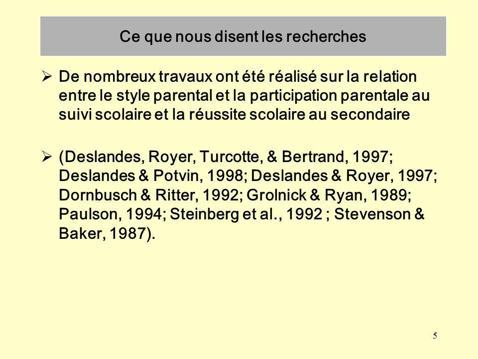 6 La famille fait partie des principaux prédicteurs de labandon scolaire (Doucet, 1993; Garnier, Stein, & Jacobs, 1997; Janosz et al., 1996; LeBlanc et al., 1993; Potvin et al., 1992, 1993, 1996(b); Rumberger et al., 1990; Rumberger, 1995).