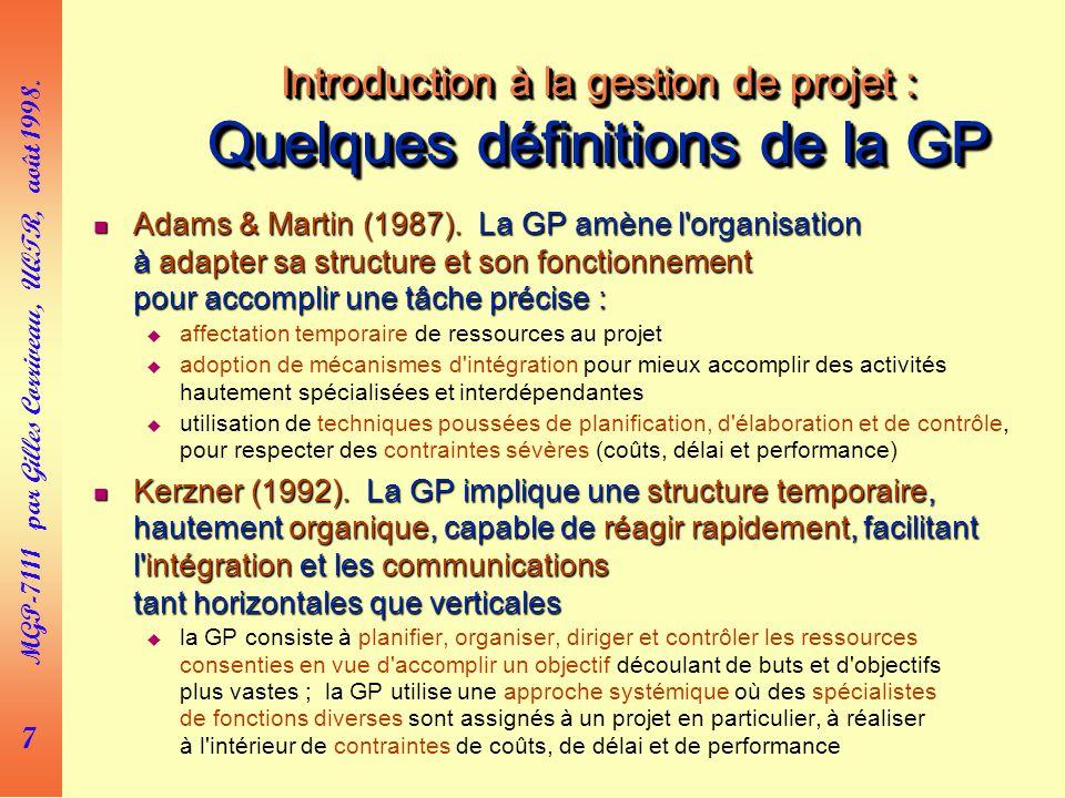 7 MGP-7111 par Gilles Corriveau, UQTR, août 1998.