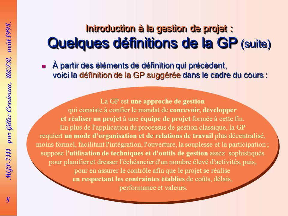 8 MGP-7111 par Gilles Corriveau, UQTR, août 1998.
