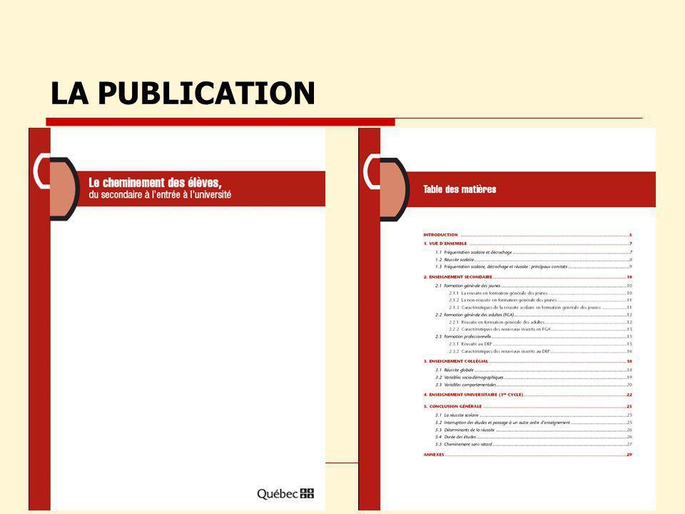 Obtention dune sanction détudes au collégial EXAMEN DE LA PUBLICATION p. 18