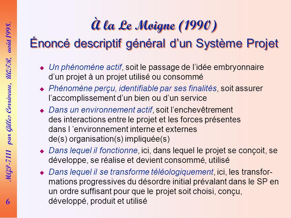 6 MGP-7111 par Gilles Corriveau, UQTR, août 1998.
