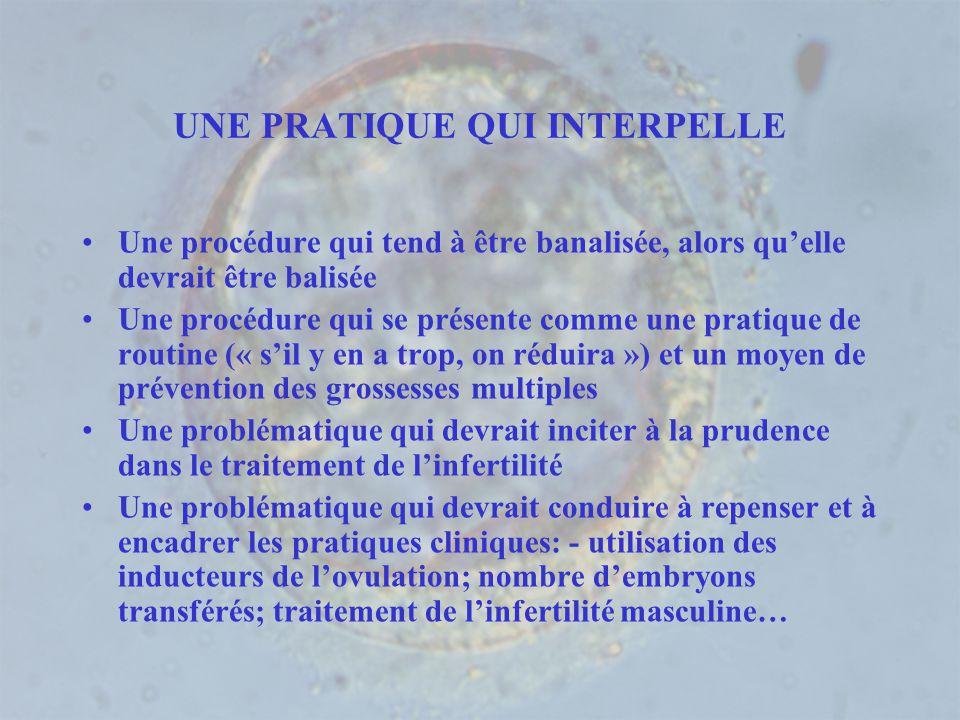 UNE PRATIQUE QUI INTERPELLE Une procédure qui tend à être banalisée, alors quelle devrait être balisée Une procédure qui se présente comme une pratiqu