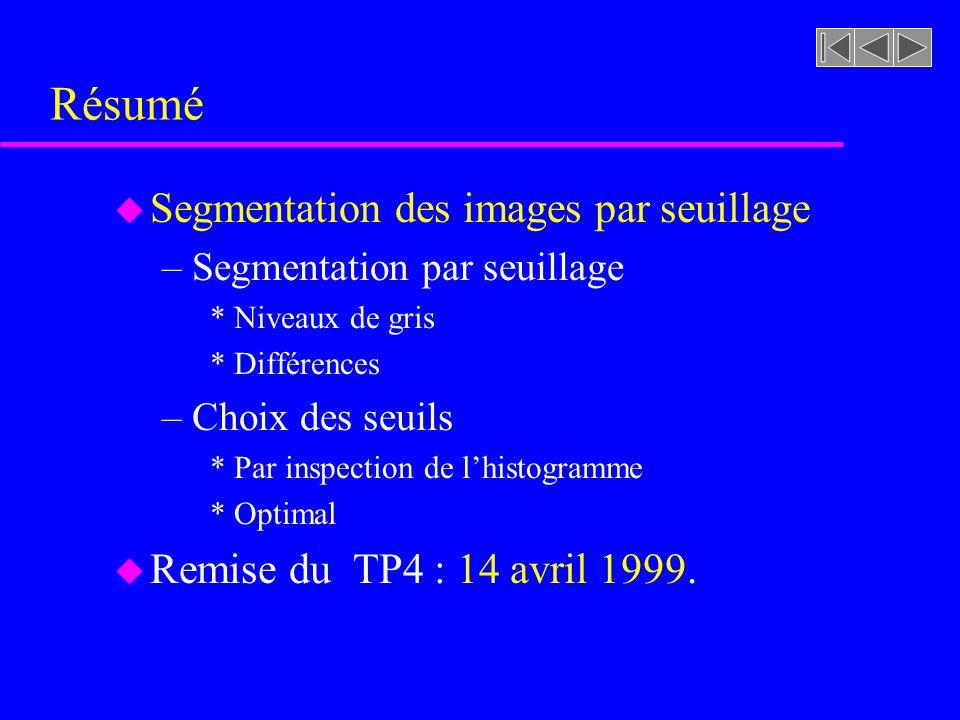 imageasegmenter.rast Travail pratique #4 (4a) segmentation