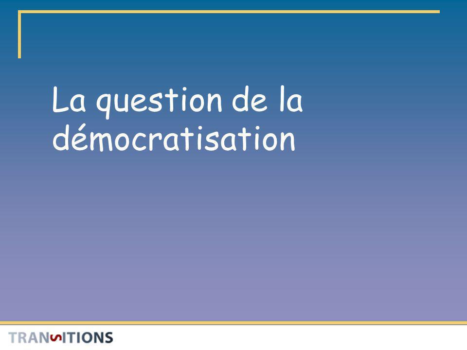 Question de recherche Le passage aux EPS :dun point de vue qualitatif, quen est-il de la démocratisation.