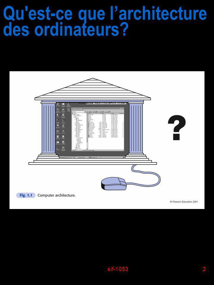 sif-10532 Qu'est-ce que larchitecture des ordinateurs?