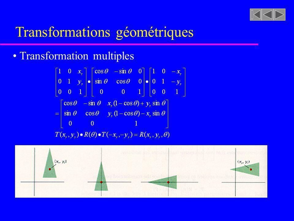 Transformations géométriques Transformation multiples