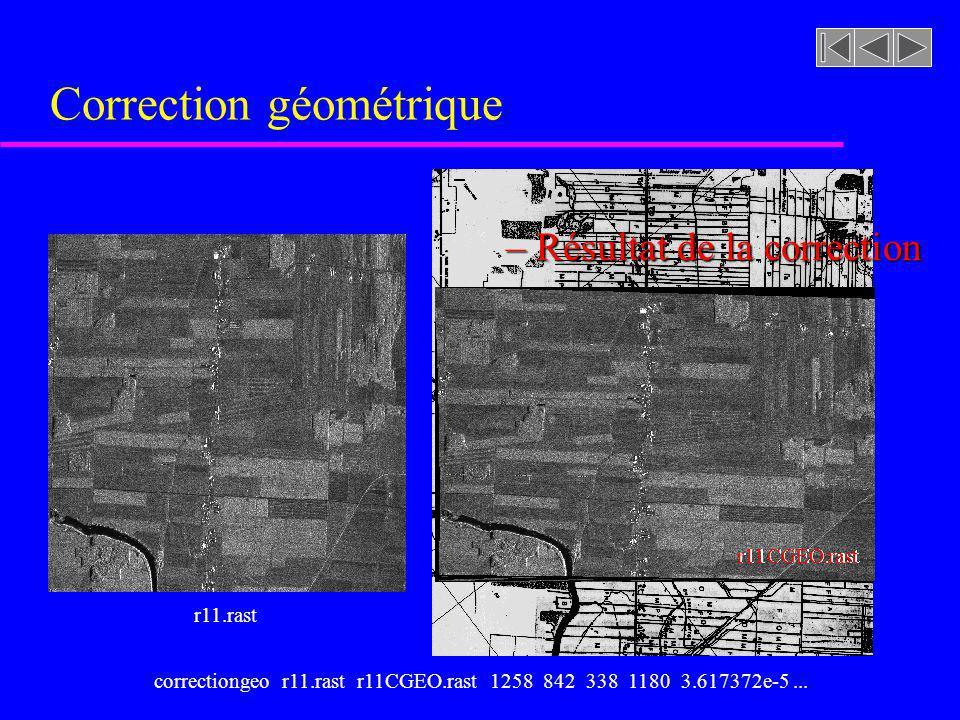 Correction géométrique r11.rast r11CGEO.rast – Résultat de la correction cadastreNS4X4.tiffcorrectiongeo r11.rast r11CGEO.rast 1258 842 338 1180 3.617