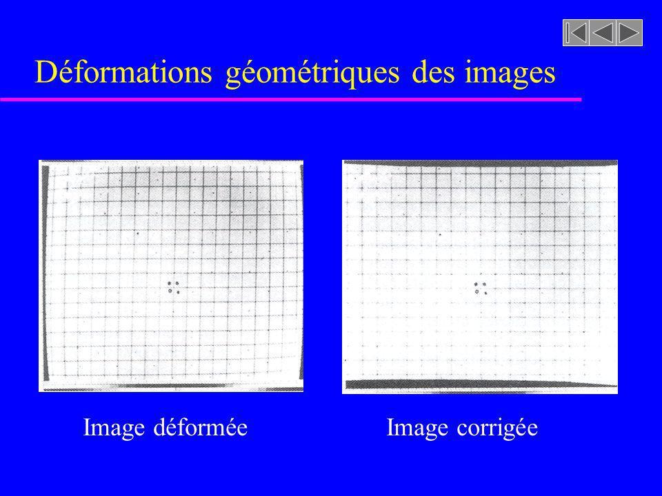 Déformations géométriques des images Image déforméeImage corrigée
