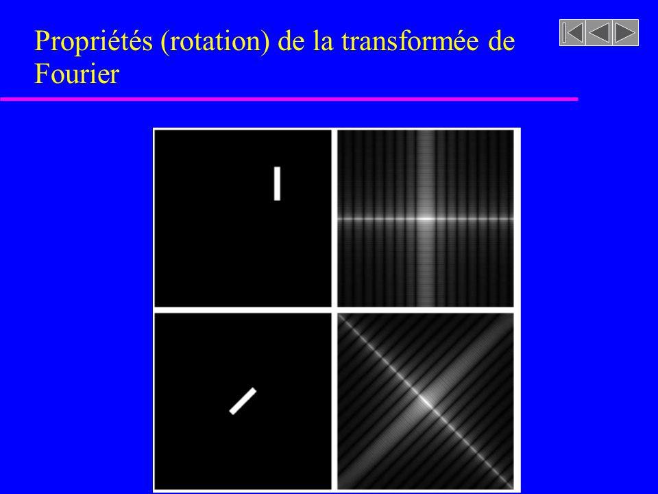 Propriétés (translation) de la transformée de Fourier