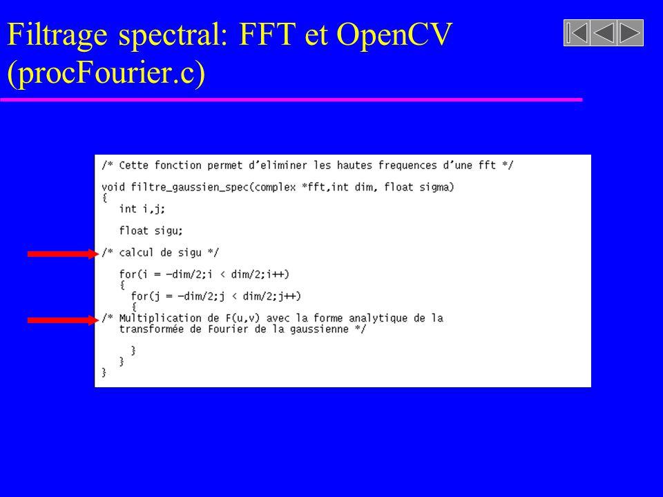 Filtrage spectral: FFT et OpenCV (fourier.c)