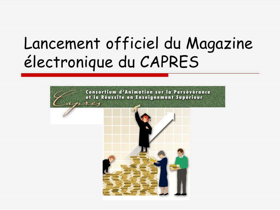 Lancement officiel du Magazine électronique du CAPRES