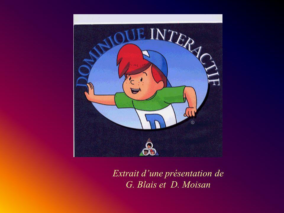 Extrait dune présentation de G. Blais et D. Moisan