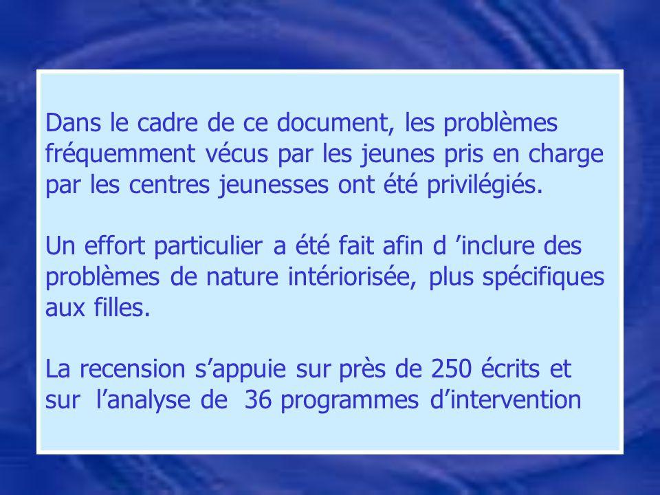 Produire un document accessible aux intervenants, qui présente les principaux programmes liés aux problématiques retenues.