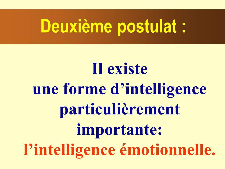 Il existe une forme dintelligence particulièrement importante: lintelligence émotionnelle.