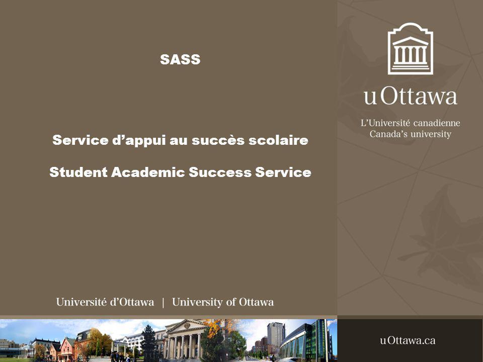 SASS Service dappui au succès scolaire Student Academic Success Service