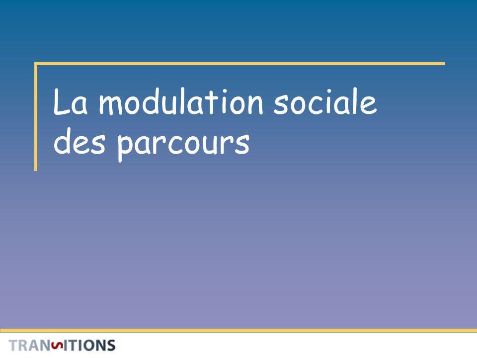 La modulation sociale des parcours