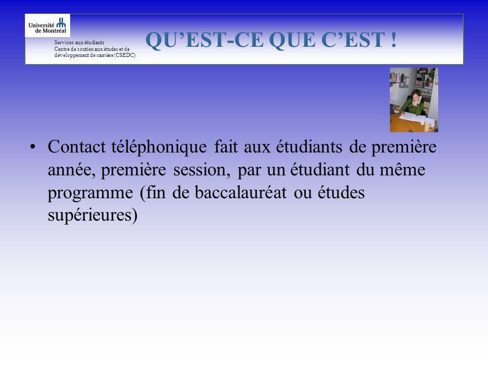 Services aux étudiants Centre de soutien aux études et de développement de carrière (CSEDC) QUEST-CE QUE CEST .