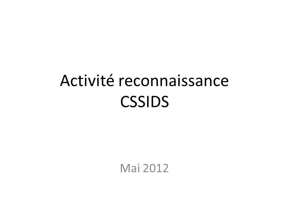 Activité reconnaissance CSSIDS Mai 2012