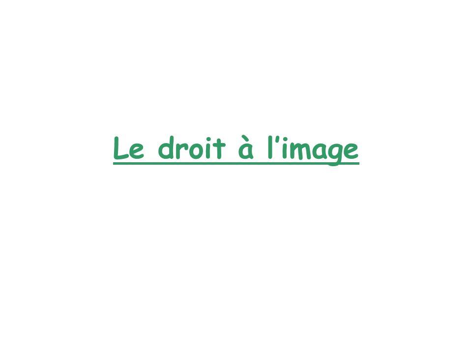Définition: Selon la loi française, le droit à limage se définit de la façon suivante : « toute personne a, sur son image et sur lutilisation qui en est faite, un droit exclusif et peut sopposer à sa diffusion sans son autorisation ».