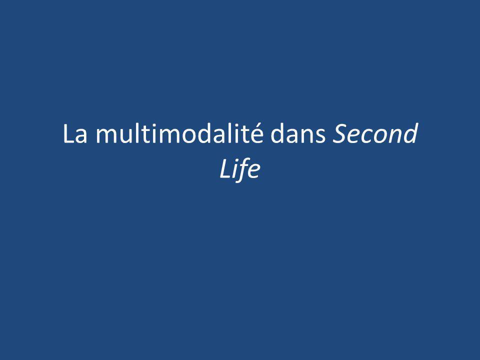 La multimodalité dans Second Life
