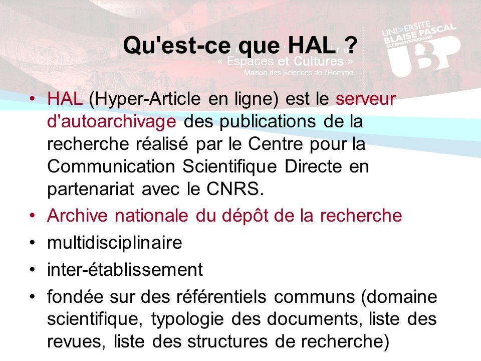 Qu est-ce que HAL .