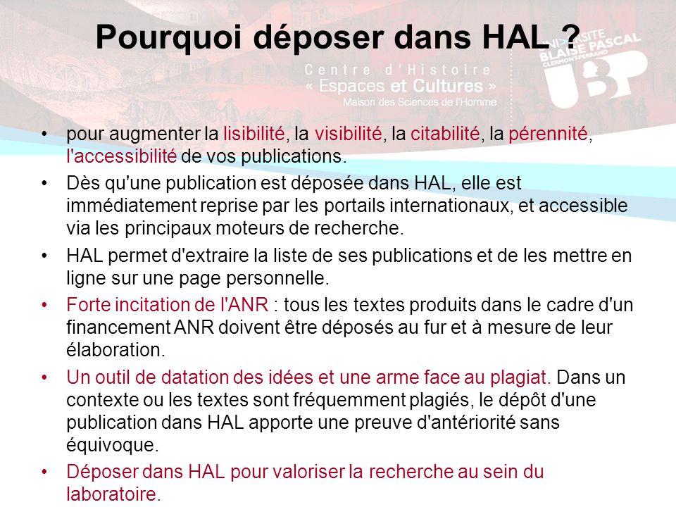 Pourquoi déposer dans HAL .