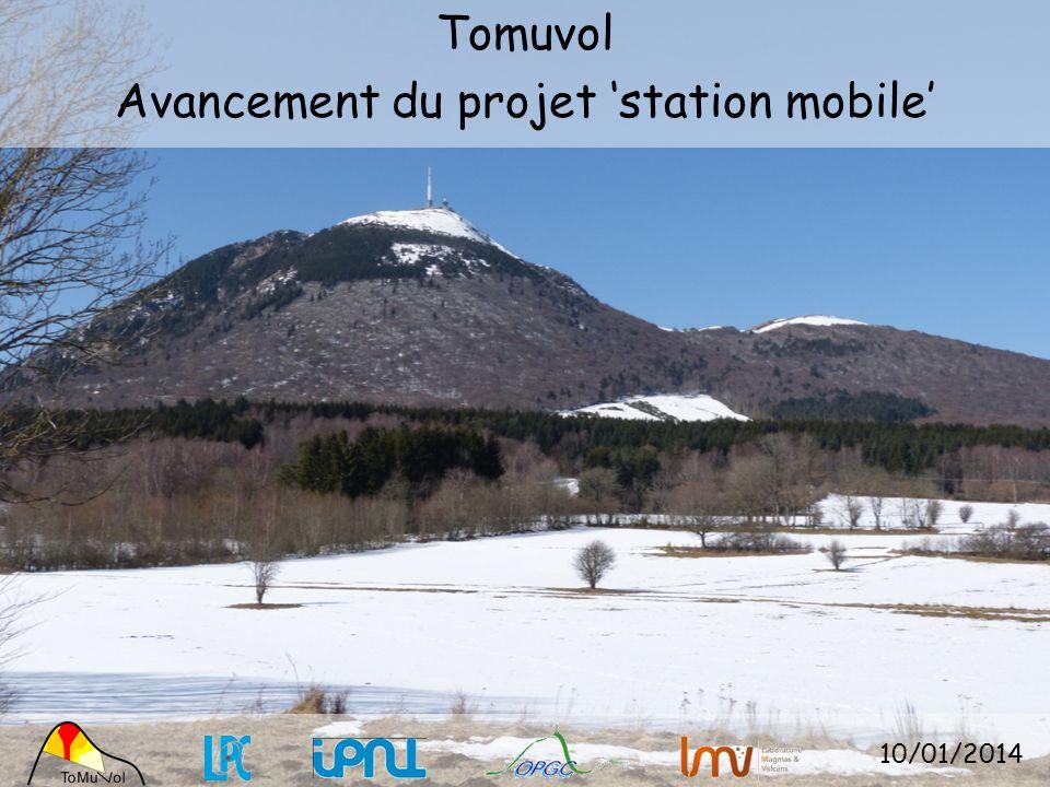 Tomuvol Avancement du projet station mobile 10/01/2014