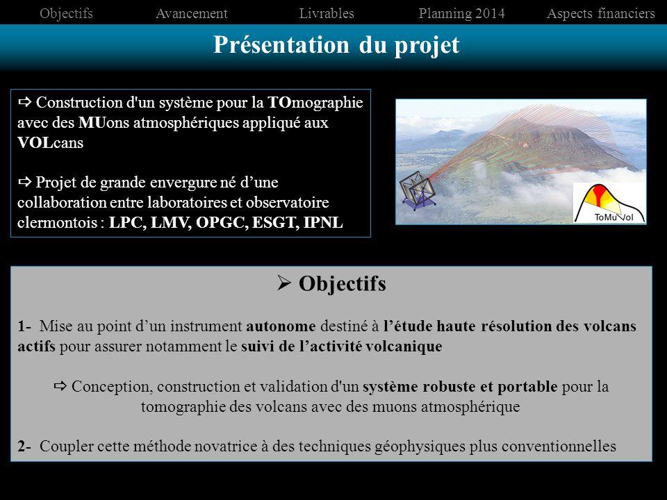 Construction d'un système pour la TOmographie avec des MUons atmosphériques appliqué aux VOLcans Projet de grande envergure né dune collaboration entr