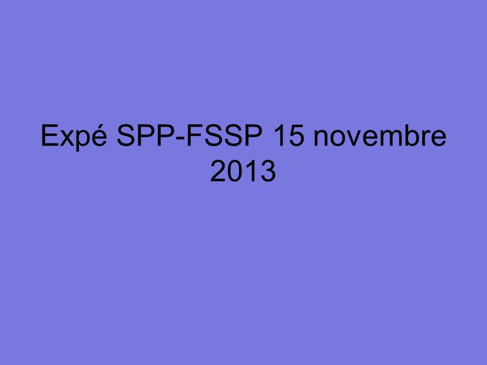 Expé SPP-FSSP 15 novembre 2013