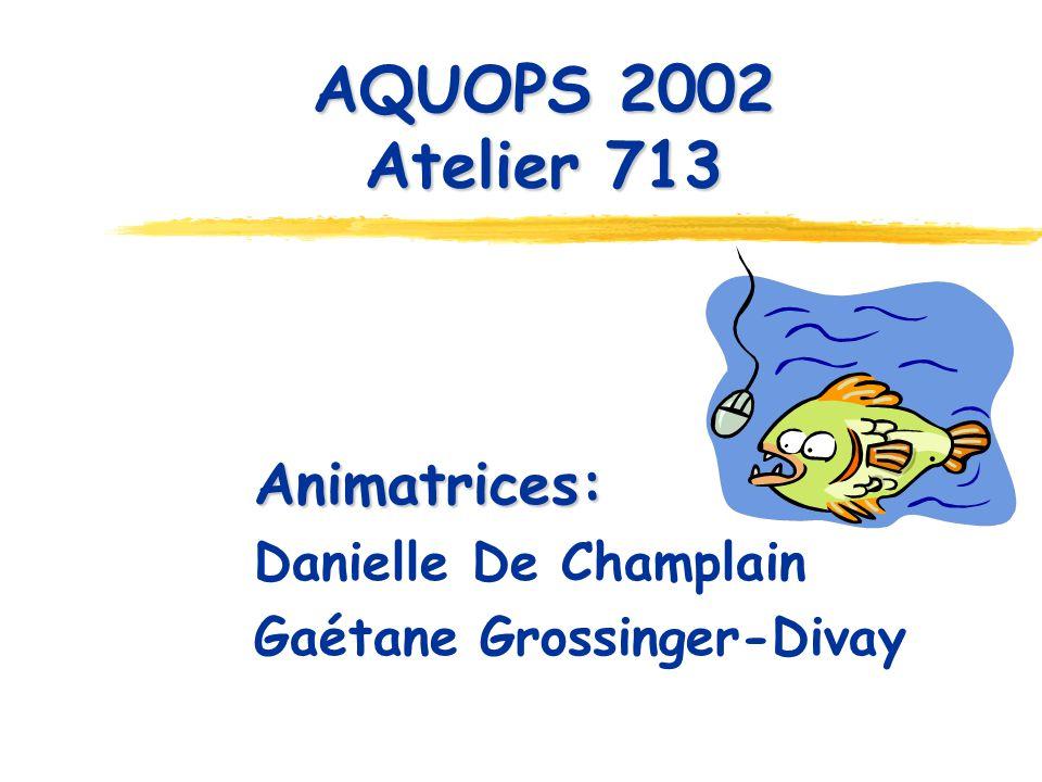 AQUOPS 2002 Atelier 713 Animatrices: Danielle De Champlain Gaétane Grossinger-Divay