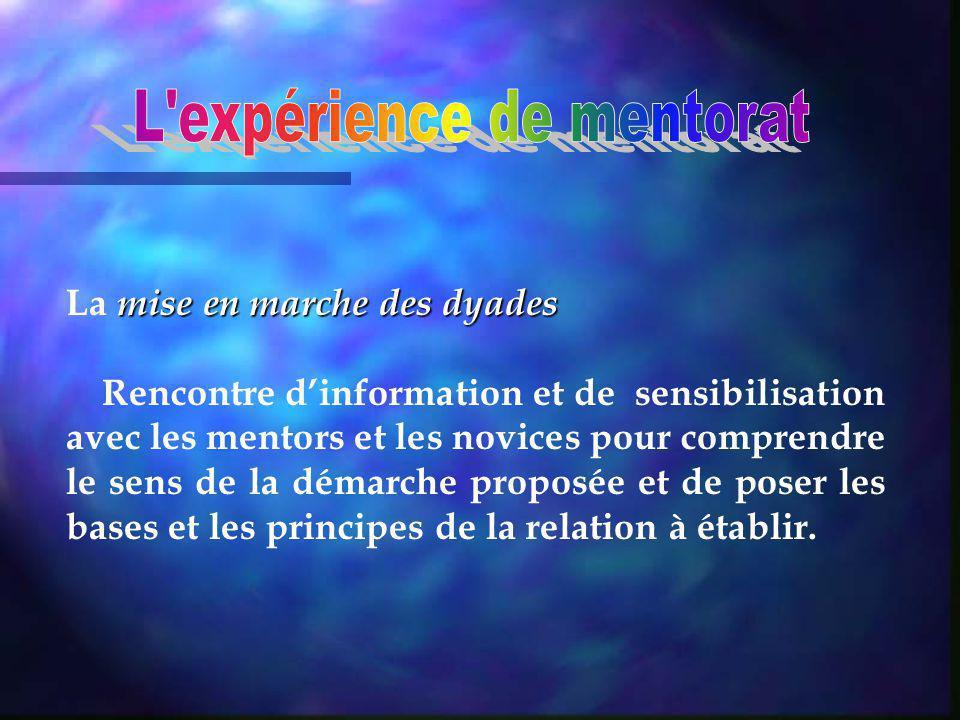 rencontres daccompagnement Les rencontres daccompagnement entre novice et mentor.