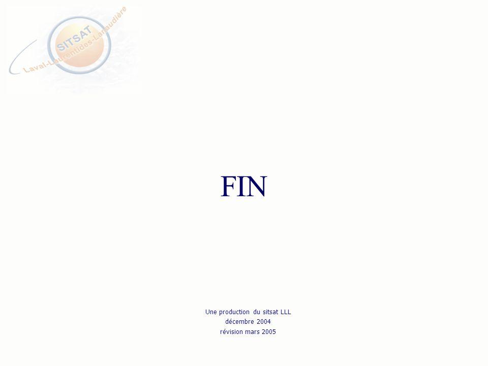 FIN Une production du sitsat LLL décembre 2004 révision mars 2005