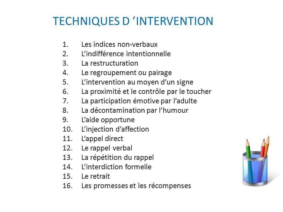 Pour une intervention efficace en classe, CSDL 8 SÉCURITÉ Les règles et les routines contribuent à augmenter le sentiment de sécurité.
