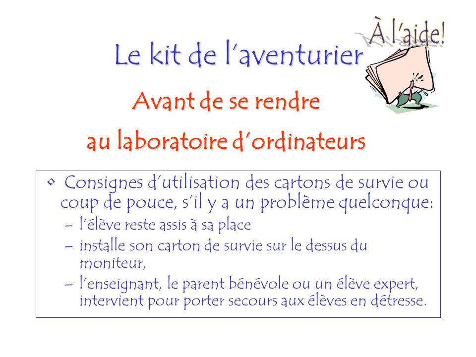 Le kit de laventurier Planifier du matériel de secours au cas où!.