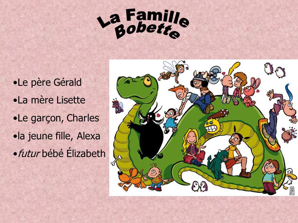 Le père Gérald La mère Lisette Le garçon, Charles la jeune fille, Alexa futur bébé Élizabeth