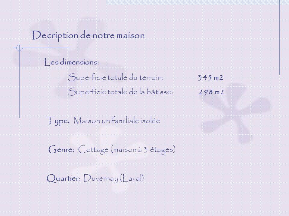 Decription de notre maison La cour : Arbres Piscine creusée pour toute la famille Balançoire pour les enfants Patio