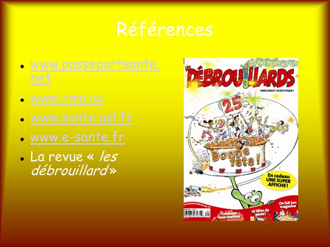 Références www.passeportsante.net www.passeportsante.