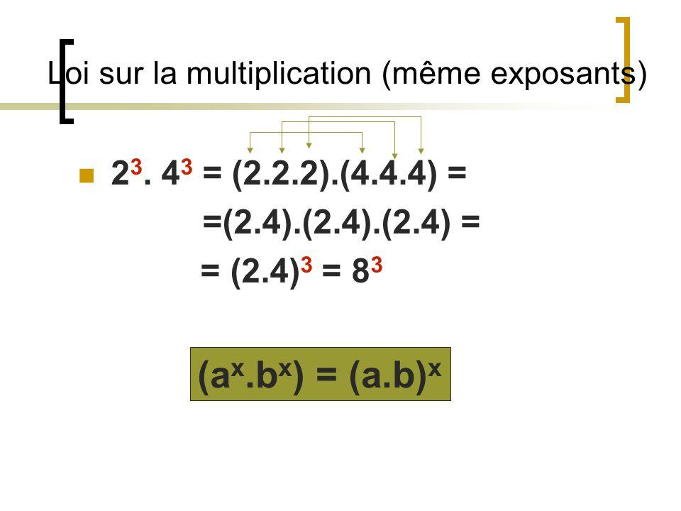 Exposant négatif 3 -2 = 1 3232 1 a x a -x =