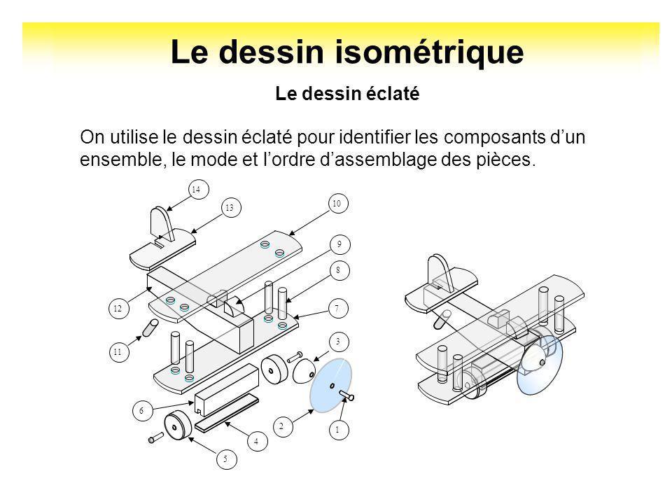 Le dessin isométrique Cette forme de dessin simplifie la communication entre le concepteur et son client. Il permet de réduire les ambiguïtés et les m