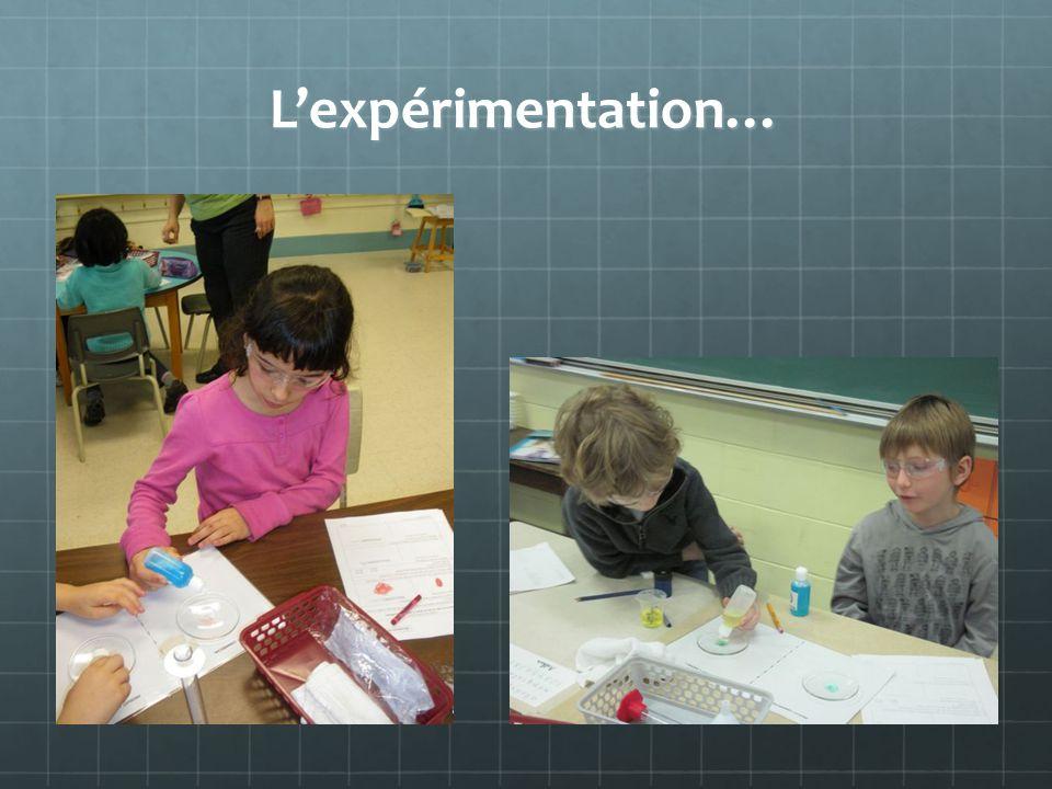Lexpérimentation…
