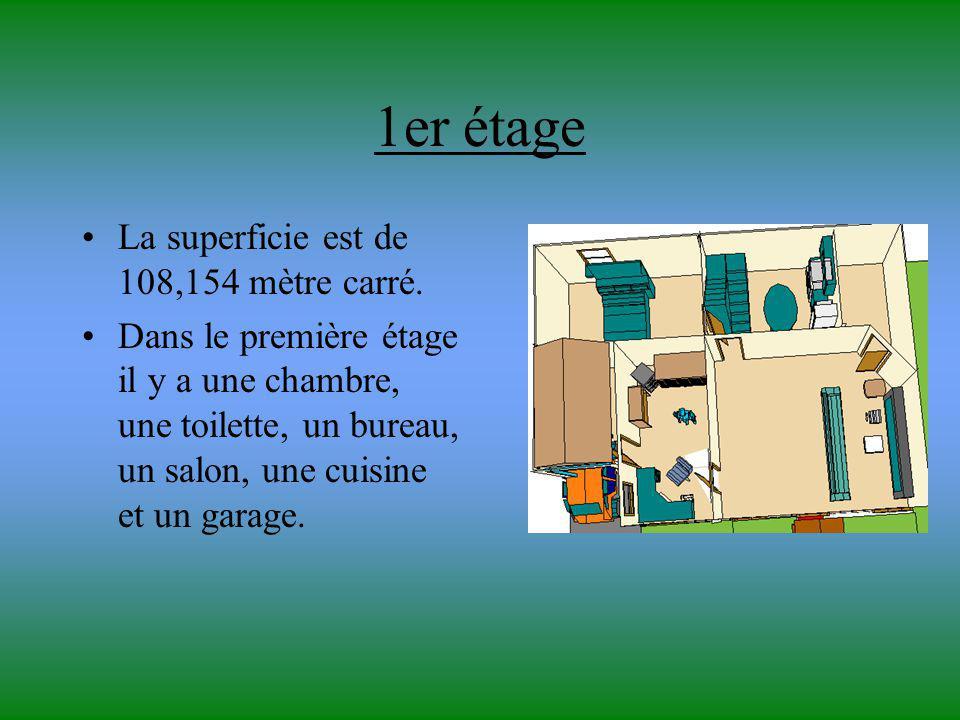 1er étage La superficie est de 108,154 mètre carré.