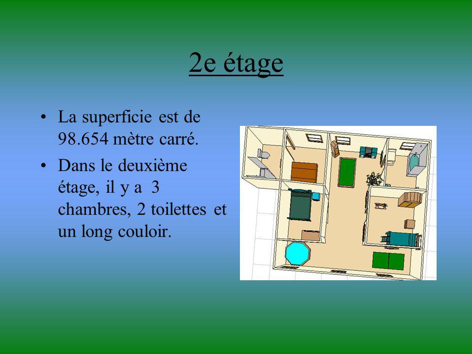 2e étage La superficie est de 98.654 mètre carré.