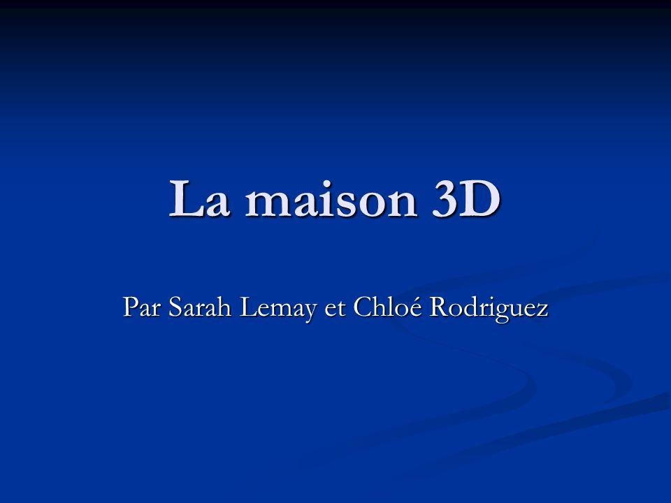La maison 3D Par Sarah Lemay et Chloé Rodriguez