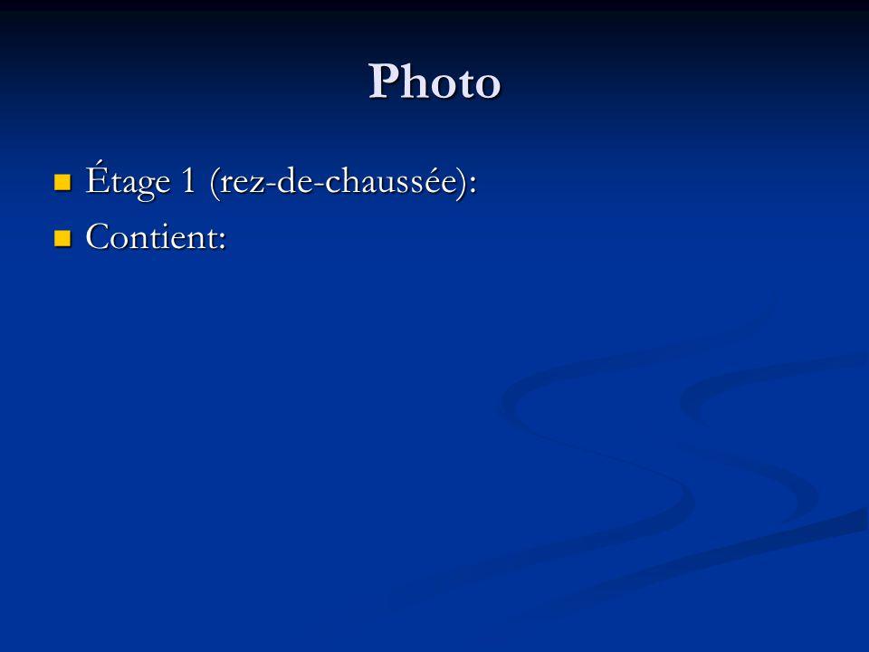 Photo Étage 2: Étage 2: Contient: Contient: