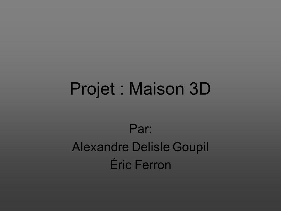 Projet : Maison 3D Par: Alexandre Delisle Goupil Éric Ferron