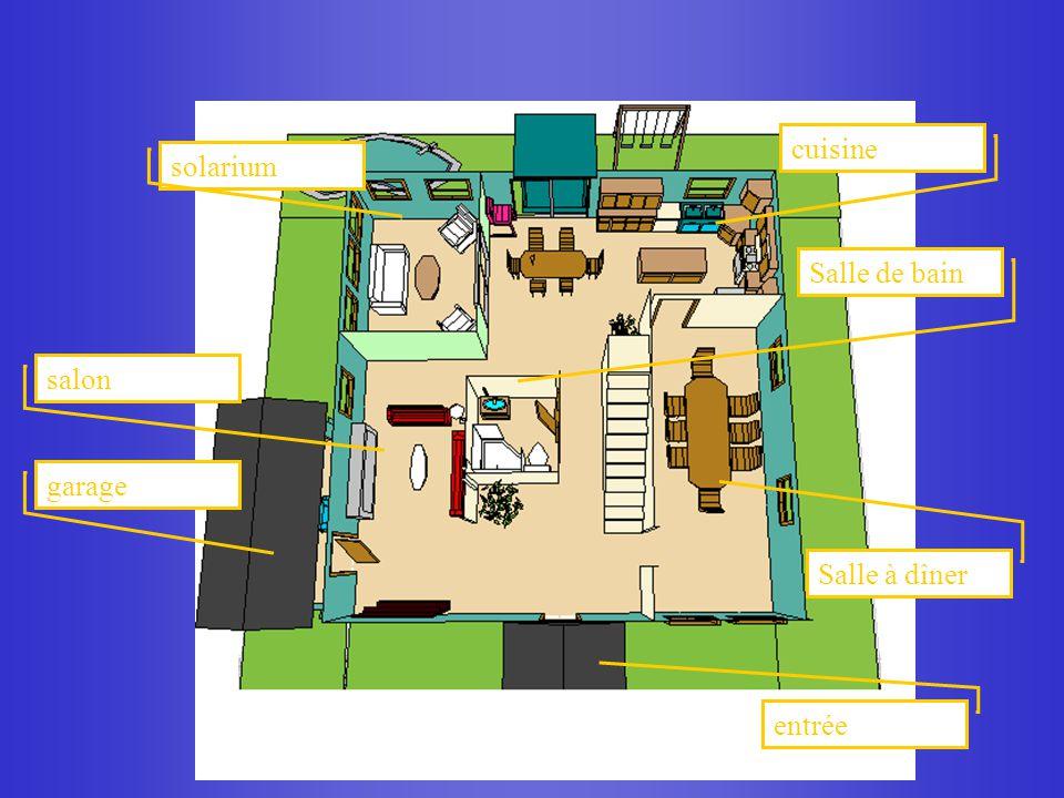 solarium cuisine Salle de bain salon garage Salle à dîner entrée